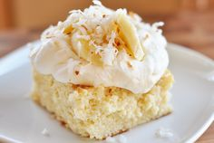 Coconut Tres Leches Cake | Mel's Kitchen Cafe...hmmm make my own Birthday dessert?!