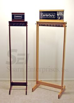 Canterbury Wood and Metal Custom Display for Belts | Point of Purchase | Point of Sale | POSM | POP | POS | Custom Display | Store Fixture | Retail Design | Visual Merchandising | Made in the USA