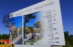 #immobilier St Jean de Védas/Roque Fraïsse après la tranche 1bis aménagement de la tranche 2 par l'entreprise MALET