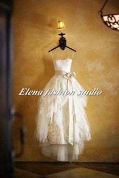 Strapless Lace Wedding Dress Sweet heart Bridal by ELENAWEDDING, $289.00