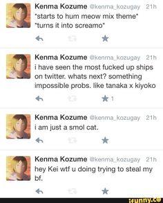 Lol Kenma, you got no chill on social media... DAM XD