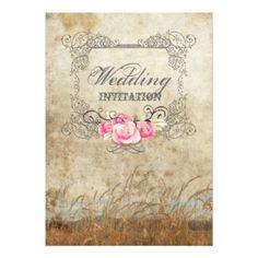 "Modern Rustic Country Wedding Invitation 5"" X 7"" Invitation Card"