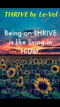 What can THRIVE do for you?  Sign up for a FREE customer account to learn about the THRIVE 8 week experience! http://marydes.le-vel.com/