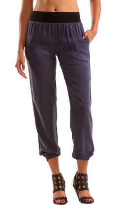 """Silk Harem Pants.  """"Yoga"""" pants you can wear to dinner>> love it!!"""