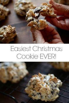 Easiest Christmas Cookie Recipe Ever! come together to create this vintage cookie recipe called a Marigoon. Perfect for Holiday Cookie Platters or Food Gift! Easy Christmas Cookie Recipes, Holiday Snacks, Holiday Cookies, Christmas Desserts, Christmas Baking, Holiday Recipes, Christmas Foods, Christmas Gifts, Healthy Cookie Recipes