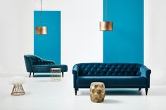 The Luxe Effect - Old School Elegance has made a very strong come back in upholstery trends. The hardest decision is choosing the colour! Modern Upholstery Fabric, Living Room Upholstery, Upholstery Repair, Upholstery Cushions, Fabric Sofa, Upholstery Tacks, Upholstery Cleaning, Grain Sack, Affordable Furniture