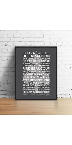 POSTER HOME RULES CEDRE