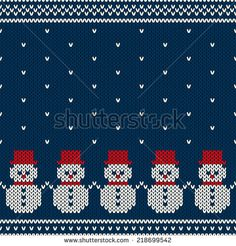Winter Holiday Seamless Knitted Pattern. Nordic Sweater Design - stock vector