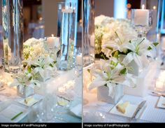 Floral Arrangements, wedding at the River East Art Center