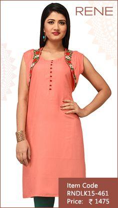 #Pink #MalaiCotton #Kurti #Fashion #Apparels #Clothing #EthnicWear #Style #Women