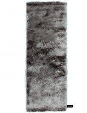 Hochflor Teppich Whisper Läufer Grau