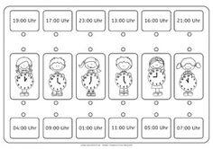 Wie spät ist es?, Uhr, Uhrzeit, lernen, Kinder, Eltern, Arbeitsblatt, kostenlos, Legasthenie, Dyskalkulie, AFS-Methode, Koujou, Stephany Koujou