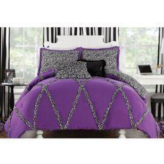 Wild Cheetah Comforter and Sham Set