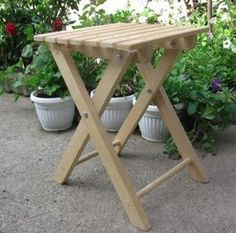 Free folding stool plans, use for ironing board next to sewing machine.