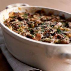 Wild Mushroom-and-Sweet Potato Gratin | MyRecipes.com #myplate #vegetable