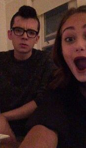 Asa Butterfield and Ella Purnell facetiming Fin MacMillan
