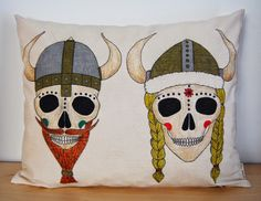 Vikings skulls pillow by Susie creativa