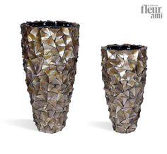 shell planter by fleur ami Vase Shapes, Ceramic Planters, Planter Boxes, Indoor Garden, Trees To Plant, Home Art, Flower Art, Glass Vase, Shells