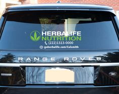 HERBALIFE NUTRITION Tri-Leaf Logo Vinyl Rear Window Decal - Customize with your phone and web!