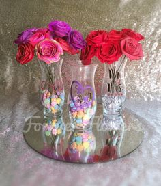 Valentines Gift Custom vase with 12 paper by ForeverFlowersLLC