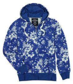 Blue Faded Marc Ecko Zip Up Hoodie...