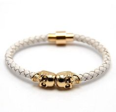 Punk Skull Leather Band And Gold Plated Bracelets Skeleton Bracelet, Skull Bracelet, Skull Jewelry, Bracelet Clasps, Bangle Bracelets, Men's Jewelry, Man Bracelet, Bangles, Leather Bracelets