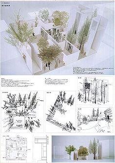 Students projekts from Daiwa house Japan Architecture, Architecture Portfolio, Architecture Details, Landscape Architecture, Architecture Panel, Japan Design, Presentation Board Design, Casa Patio, Plakat Design