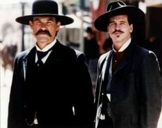Kurt Russel and Val Kilmer.  Major eye candy in Tombstone.