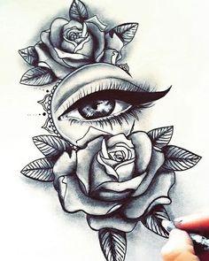 Тату с розой / Rózsa tetoválás - Pencil Art Drawings, Art Drawings Sketches, Tattoo Sketches, Tattoo Drawings, Chicano Tattoos, Body Art Tattoos, Tribal Rose Tattoos, Girl Leg Tattoos, Paisley Tattoos