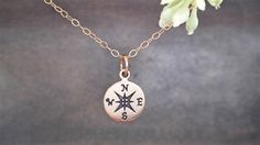 Compass Necklace - 14k gold filled - Nautical - Friendship Necklace on Etsy, $26.00