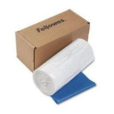 Fellowes Powershred Shredder Bags for Models C-120/20C/220/220C - 50 Bags & Ties per Carton (Clear)
