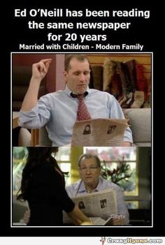 Al Bundy is a very slow reader. | Funny Pictures, Quotes, Photos, Pics, Images. Free Humorous Videos and Facebook Covers