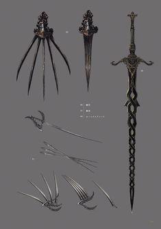 65 new ideas weapon concept art ideas Fantasy Sword, Fantasy Weapons, Dark Fantasy, Inspiration Drawing, Dark Souls Art, Armas Ninja, Sword Design, Anime Weapons, Weapon Concept Art