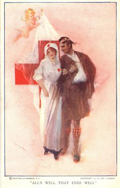 """All's Well That Ends Well"" ~ Vintage Nursing Postcard"