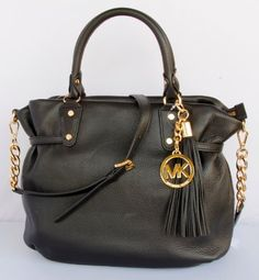 Michael Kors Megan Large Leather Satchel Black « Better product Adds for any home