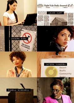the women of welcome to night vale - part 1.  The best part is that Jasika Nicole really is Intern Dana!