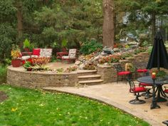 The Allan Block Blog: Backyard Design Ideas: Raised Patio Vs. Wood Deck