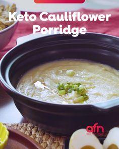Chinese Porridge Recipe, Porridge Recipes, Spicy Recipes, Asian Recipes, Keto Recipes, Easy Recipes, Cooking Recipes, Keto Cereal, Ketogenic Diet Food List