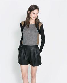 THREE - TONE T - SHIRT - T - shirts - Woman   ZARA United States