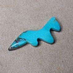 Bisbee Turquoise Ferret Cabochon/ backed by SaiyoStoneJewelry on Etsy