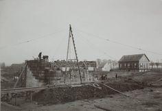 Bouw Spijkenissebrug november 1900.