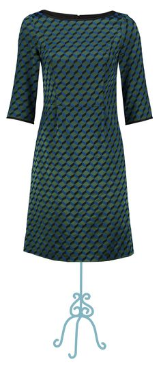 Dress Benthe dark green - Collectie