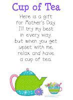 Kinder-Craze: FREEBIE: A New Mother's Day Poem & Poster and Tea Party Decoration: