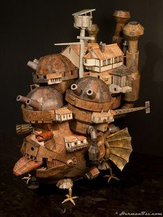 Howls moving castle papercraft book