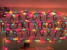 """Stranger Things Inspired Bedroom Decor - """"remade joyces famous way to talk to will. took 4 hours but was very worth it. i think ima talk to will tonight."""""""