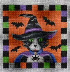HW04 - Meet Mrs. Cat Halloween Ornament