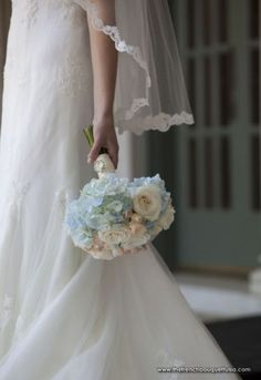 Bridal Bouquet of hydrangea and roses.