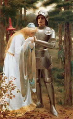 Britomart and Amoret - Mary F Raphael (British, d.1902), c. 1898