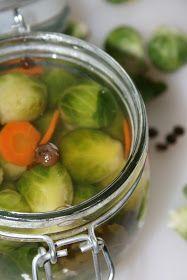 sio-smutki! Monika od kuchni: Marynowana brukselka Pickles, Cucumber, Food, Essen, Meals, Pickle, Yemek, Zucchini, Eten