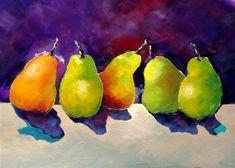 """Dancing Pears"" - Original Fine Art for Sale - © Laurie Mueller"
